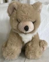 "Vintage Fiesta Sitting Bear Tan Ivory 10"" Plush Toy 1989 Euc - $16.99"