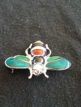 Guilloche Enamel Bee Insect Bug Pin Brooch  - $5.00