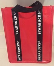 New Starbucks Mini Tote Gift Bag Red Black White - $14.01