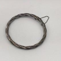 Vintage Silver Plated Locking Cuff Bracelet - $24.74