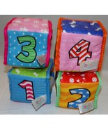 Spark Create Imagine Soft Baby Blocks Toys 4 pcs Infant Letters Numbers ... - $14.69