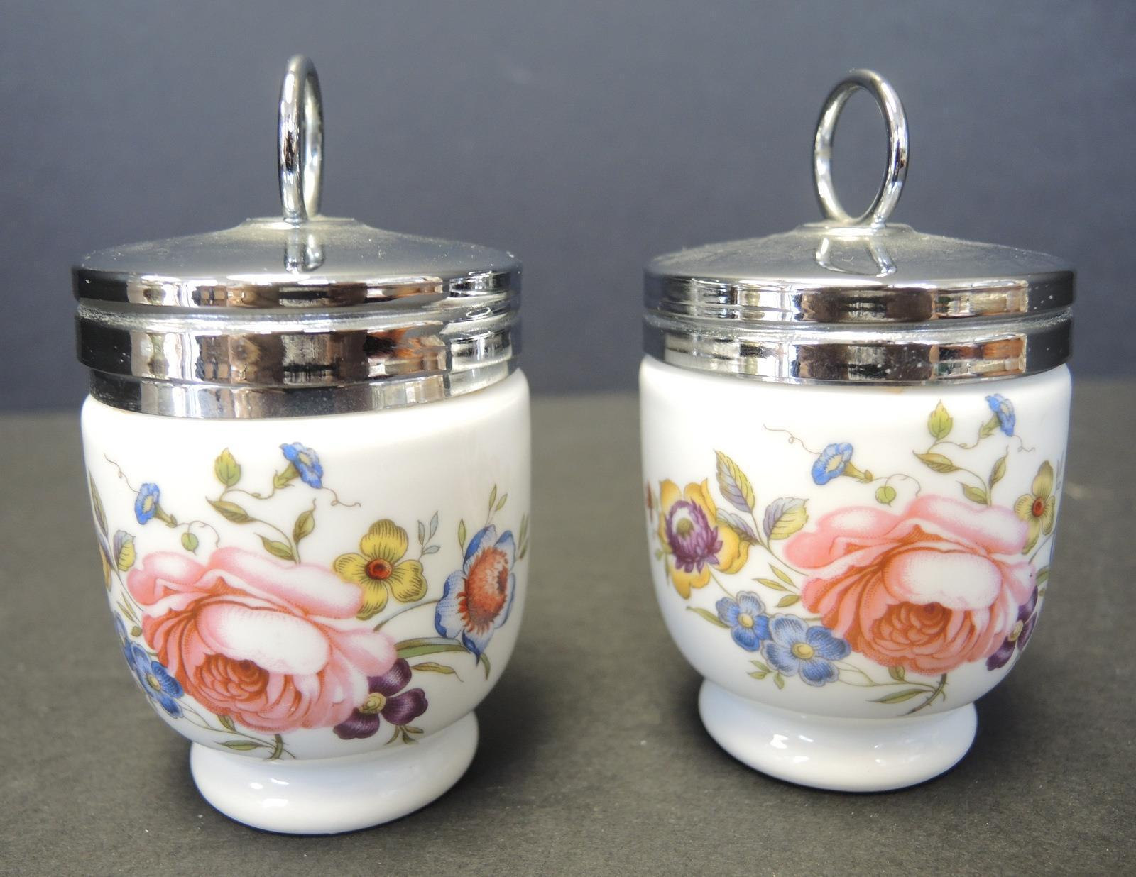 Two Royal Worcester Egg Coddlers - Bournemouth Pattern