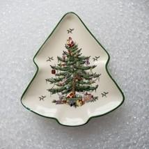 Spode Christmas Tree Design Christmas Tree Shape Soap Dish Preloved Small Chip - $14.46