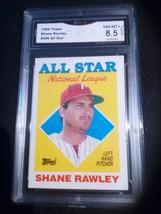 1988 Topps Shane Rawley GMA Graded 8.5 NM-MT+ All-Star Baseball Card 406  - $7.75