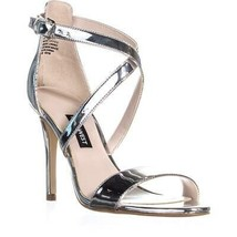 Nine West Mydebut Robe Sandales à Talon, Argent, 6 US - $70.79