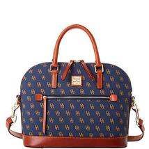 Dooney & Bourke Gretta Domed Zip Satchel Navy