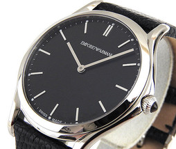 Emporio Armani ARS2001 Swiss Made Men's Quartz Lizard Leather Watch NWT ... - $799.99
