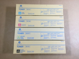 Genuine Konica Minolta TN711 CMYK Set Toner for Bizhub C654 C654e C754 C... - $206.91