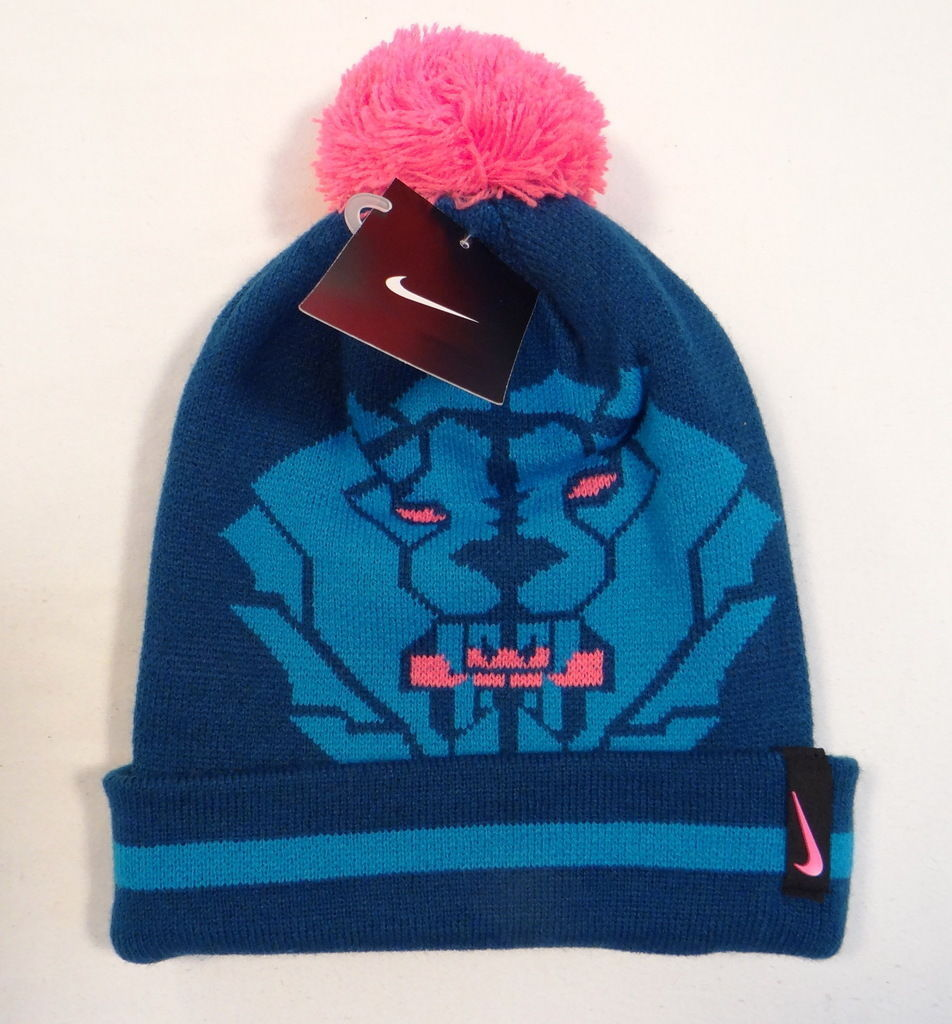 2d6f35c2242 57. 57. Previous. Nike Lebron James King Lion Knit Cuff Beanie with Pom Pom  Youth Boys 8-20
