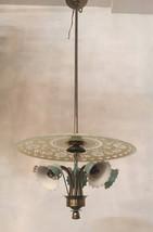 Vintage Chandelier, Crystal Chandelier, Murano Glass Pendant Light, Wiri... - $1,850.00