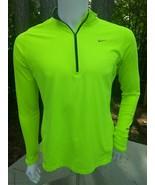 Girls Nike Dri Fit large 1/4 zip neon outdoors jacket ⚽ - $16.77