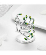 Rings 925 Sterling Silver Free Leaf Tree of Life Open Adjustable Finger ... - $27.15