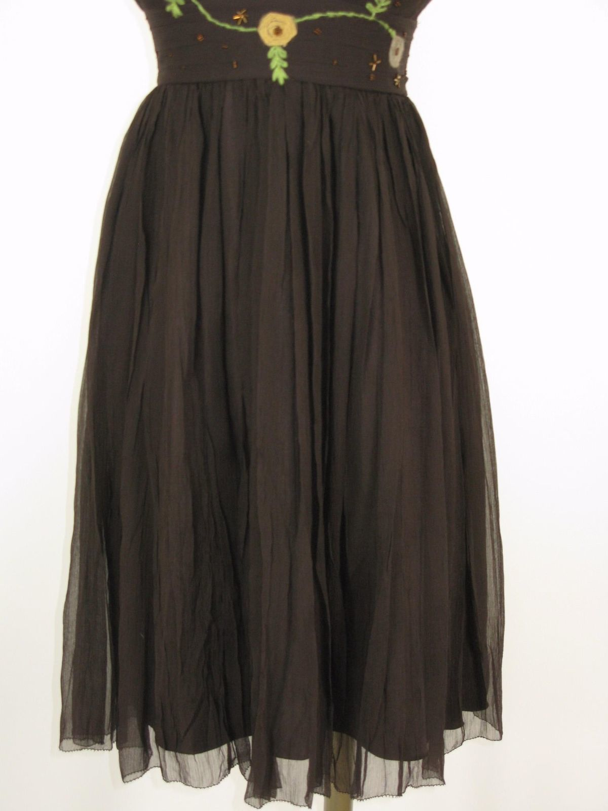 Party Dress To The Max Silk Chiffon Embroidered Dress 2 NWOT $220 MSRP