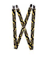 DC Comics Batman Stacked Yellow / Black Logo Suspenders - $13.99