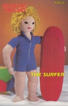 The Surfer, Annie's Attic Sporting Crochet Pattern Club Leaflet 87S23 - $2.95