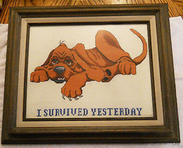 Blood Hound Dog Cross Stitch Embroidery Picture... - $49.49