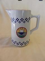 Cafe Tea Design Stoneware Pitcher from Signatur... - $34.64