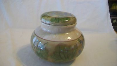 Multicolored Brown with Green Ceramic Candy Dish with Lid from California Pantry