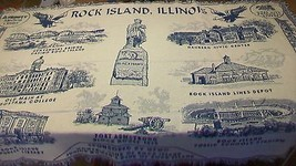 Rock Island Illinois Coverlet History Tapestry Throw Blanket - Huge 50 x 70 - $118.79