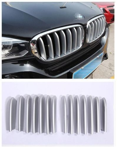 ABS Front Center Grill Grid Grille Cover Trim 14pcs For BMW X6 F16 2014-2016