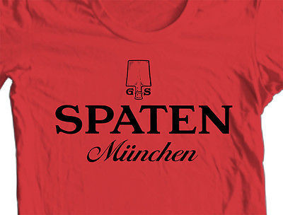 Spaten Beer T shirt Germany Oktoberfest 100% cotton graphic printed tee