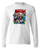 Mighty Avengers Long Sleeve T-shirt Marvel comics 100% cotton graphic tee image 2
