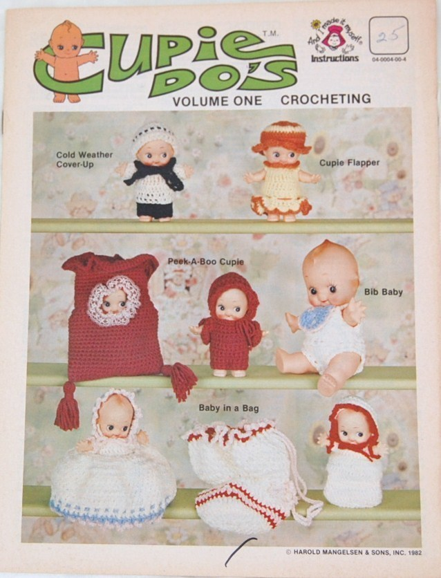 Mangelsen's Cupie Do's  Crochet pattern Leaflet  Volume I