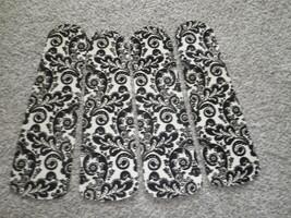 Custom  Black & Cream Flocked Damask Decorated Ceiling Fan - $99.99