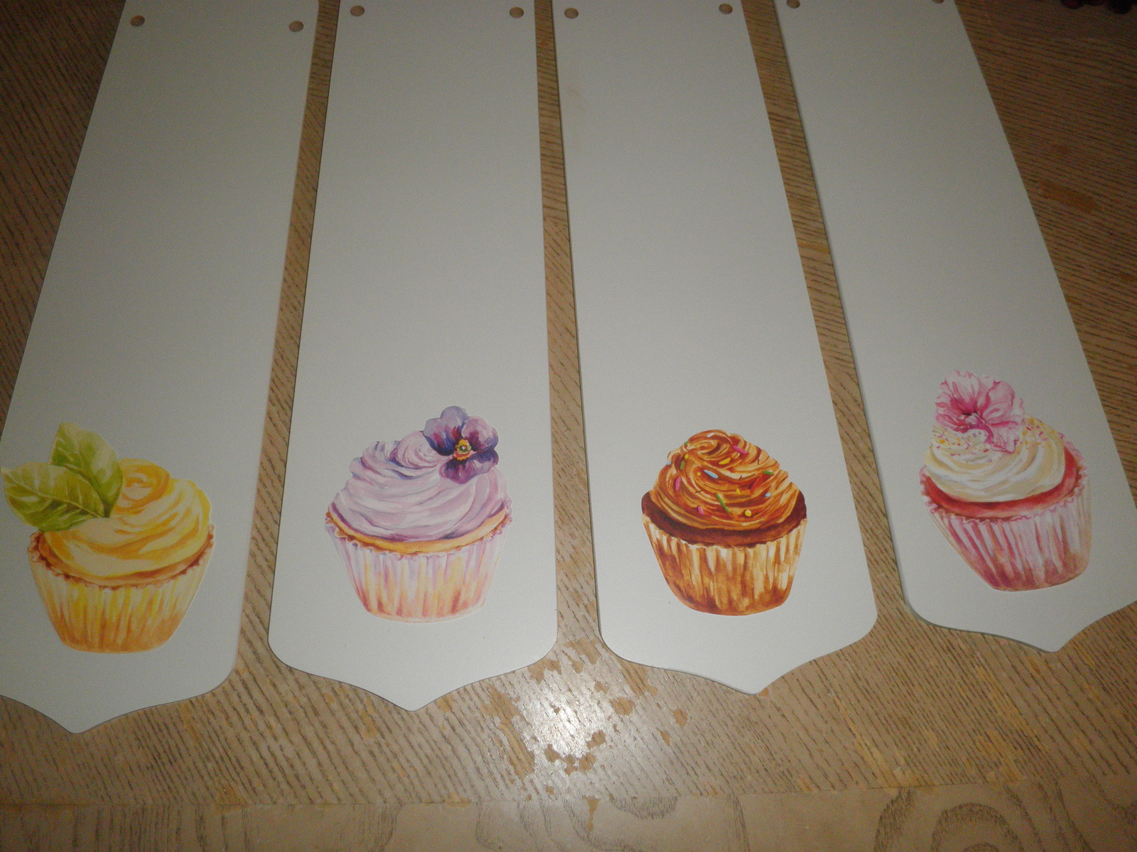 "Primary image for CUSTOM ~ 42"" SWEET CUPCAKE CEILING FAN WITH LIGHT ~ DECORATED CUPCAKES PASTELS"