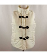 Inked & Faded Puffy Vest Zip and Toggle Button Closure  Womens Sz L - $24.09