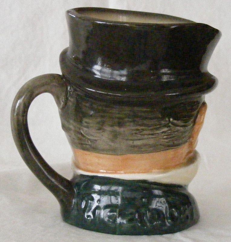 Royal Doulton Mr. Micawber Dickens character mug jug, 4 inches tall