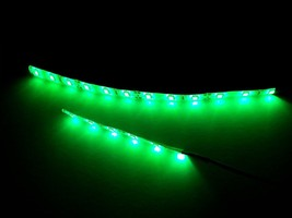 "2PC Super Bright Green Motorcycle LED Strip Kit Brightest 4"" 8"" Custom N... - $6.34+"