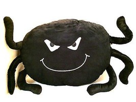 Black Spider Throw Pillow Spooky Scary Halloween Decoration Fun for Kids  - $16.81