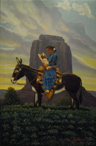 "36 x 24"" Native American NAVAJO~Artist Original... - $699.00"