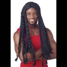 LONG Dreadlocks Jamaican BLACK BRAID RASTA WIGUnisex Halloween Costume A... - $19.77