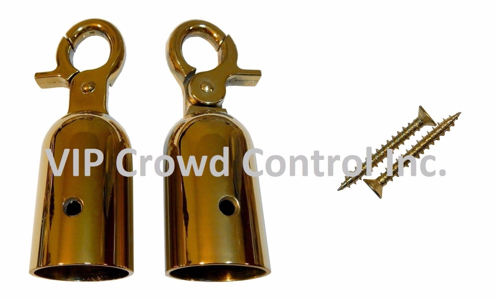 REPLACEMENT ROPE HOOK, 2 PCS SET IN GOLD FINISHED, VIP CROWD CONTROL