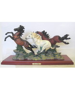 Wild Horses Figurine Wildlife Collection Curio As Is - $218.29