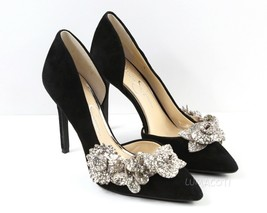 Womens Jessica Simpson Pruella Pump - Black Lux Kid Suede Size 7.5 - $64.99