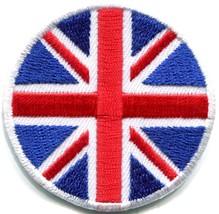 Union Jack British flag UK United Kingdom applique iron-on patch Small S... - £2.09 GBP