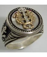 10 Karat Gold Venetian Seahorse Mens Coin ring - $197.01