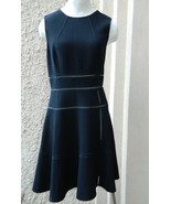 Oscar de la Renta Dress Black Crepe Mesh Cut Outs Sleeveless NWT $2290 8 - $498.00