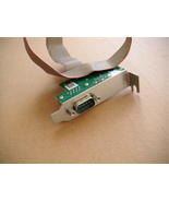 Dell Serial PS2 RS232 Add In Card SFF LOW bracket Cable half-Height Y9003 F3636  - $2.58