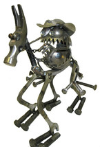 Sugarpost Gnome Be Gone Cowboy On Horse Welded ... - $149.99