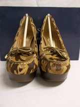 Sperry Top Sider Size 5.5 M Kirkwood Green Camo Leather Pumps New Womens... - $107.91