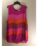 Ava & Viv Pink Magenta Red Orange Tank Plus Size Sleeveless Blouse 4X 28... - $9.74