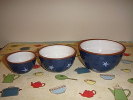 Boyds Bears 3 Miniature Stackable Mixing Navy Bowls - $22.99