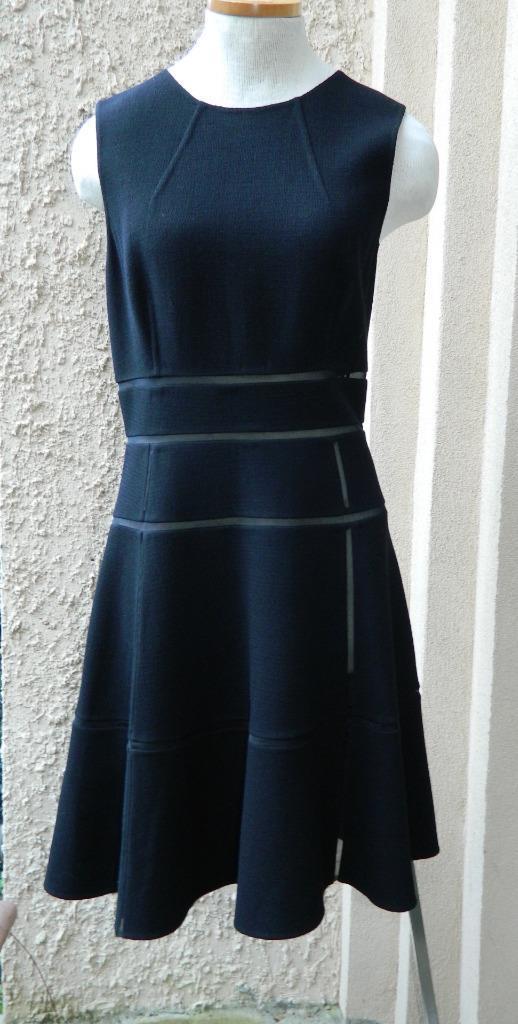 Oscar de la Renta Dress Black Crepe Mesh Cut Outs Sleeveless NWT $2290 8