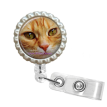 Cute Cat Face Retractable Reel ID Name Tag Badge Holder #5 - $10.00
