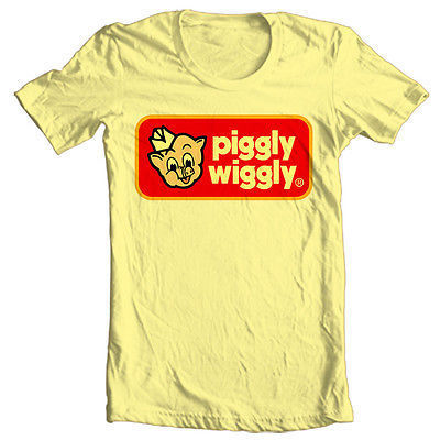 Piggly Wiggly T shirt retro 70's 80's vintage brands 100% cotton printed tee