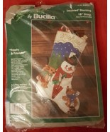 Bucilla Christmas FELT Stocking Frosty & Friend... - $58.79